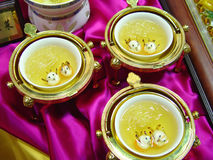 CHINESE soep en garnalen Stock Foto's