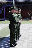 Chinese soldier drill Royalty Free Stock Image