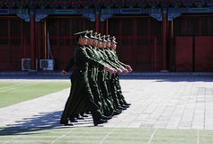 Chinese Soldier Have Drill Stock Photo