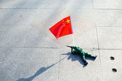 The Chinese soldiers toy. Chinese soldiers toys are on the runn Stock Image