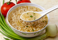 Chinese soup broth instant Royalty Free Stock Photos