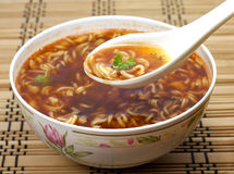 Chinese soup instant Stock Images