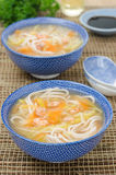 Chinese soup with noodles and vegetables Stock Photography