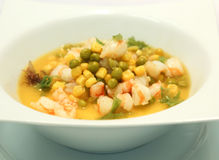 Chinese soup with shrimps Royalty Free Stock Image