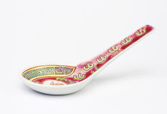 Chinese soup spoon. Royalty Free Stock Photos