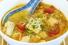 Chinese soup with tofu Stock Photography