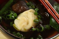 Chinese soup with vegetables Stock Image