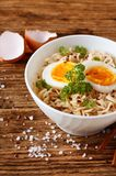 Chinese soup in white bowl Royalty Free Stock Image