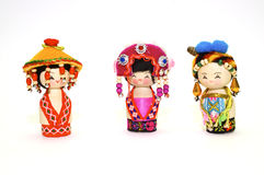 The Chinese souvenir dolls Stock Photography
