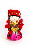 Chinese souvenir dolls in national clothes Royalty Free Stock Photo