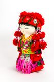 Chinese souvenir dolls in national clothes Stock Image