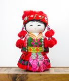 Chinese souvenir dolls in national clothes Stock Photography