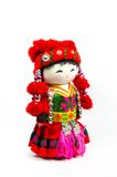 Chinese souvenir dolls in national clothes Stock Photo