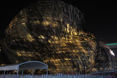 Chinese 2010 Spanish Pavilion for the Shanghai World Expo. The pavilion is an ancient and innovative wicker basket building, wall made of rattan decorative Stock Photography