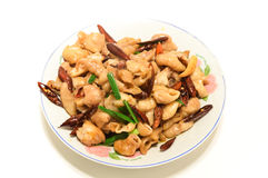 Chinese specialties. With a dish made of pig intestine, which is the Chinese folk specialties Stock Photography