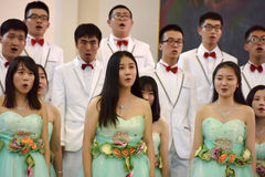 Chinese speech choir Stock Image