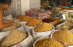 Chinese Spice Market - Singapore. Market stall in the Chinese Spice Market in Singapore Stock Images