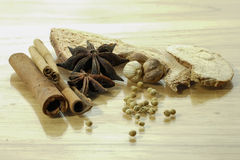 Chinese spices blend. Five of Chinese spices blend for cooking Stock Photos