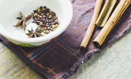 Chinese spices. In white bowl Stock Images