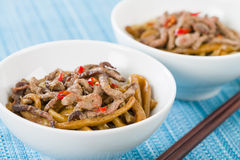 Chinese Spicy Beef and Black Bean Sauce Royalty Free Stock Image