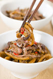 Chinese Spicy Beef and Black Bean Sauce Royalty Free Stock Photography
