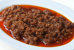 Chinese Spicy Diced Meat Stock Photos