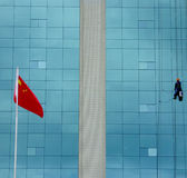 Chinese spider man Stock Images