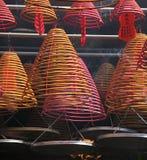 Chinese spiraalvormige wierookstokken royalty-vrije stock fotografie