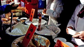 Chinese Spring Festival. All kinds of glutinous millet paste are served at temple fair during Chinese Spring Festival in Beijing, China
