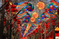 Chinese Spring Festival with dragon like Lantern stock image