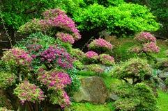 Chinese spring garden stock photo