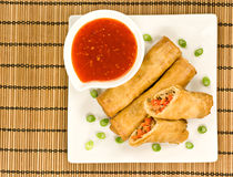 Chinese Spring Rolls Royalty Free Stock Photos