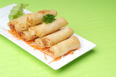 Chinese spring rolls Stock Photo