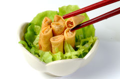 Chinese spring rolls Stock Photos