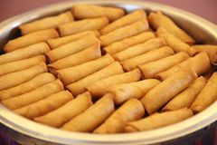 Chinese springrolls Royalty Free Stock Photo