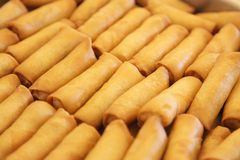 Chinese springrolls Stock Photos
