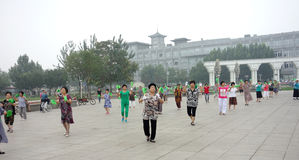 Chinese square dance Royalty Free Stock Photo