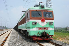 Chinese SS3B  electric train Stock Images
