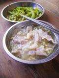 Chinese staple food dumpling soup Stock Image