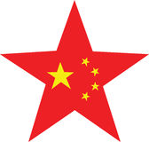 Chinese Star. Illustration with the 5 stars of the chinese flag Royalty Free Stock Photos