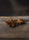 Chinese star anise. On wood Stock Images