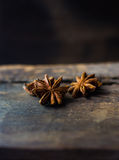 Chinese star anise. On wood Stock Photos