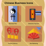 Chinese Start Up Business Icon Set Royalty Free Stock Photos