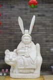 Chinese statue with big ears Royalty Free Stock Photos