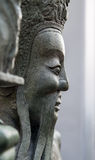 Chinese statue at the buddhist  temple, Bangkok Stock Photography