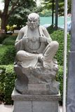 Chinese statue in the Buddhist temple. Stock Image