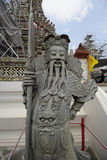 Chinese statue in the Buddhist temple of Wat Arun Royalty Free Stock Images
