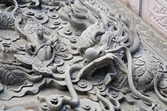 Chinese statue dragon Stock Photos