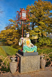 Chinese statue in park in pushkin in autumn Royalty Free Stock Photography
