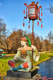 Chinese statue in park in pushkin in autumn Stock Images